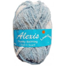 Alexis, Chunky - Denim and White