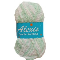 Alexis, Double Knit - Mint and White