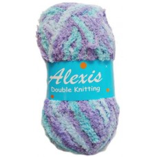Alexis, Double Knit - Lavender and Blue