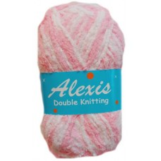 Alexis, Double Knit - Light Pink and White