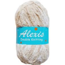 Alexis, Double Knit - Khaki Brown and White