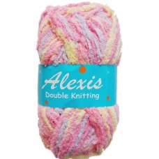 Alexis, Double Knit - Dark Pink and Purple