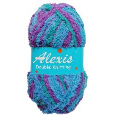 Alexis, Double Knit - Purple and Blue