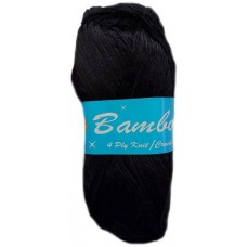 Bamboo, 4 Ply - Black