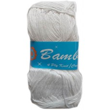 Bamboo, 4 Ply - White