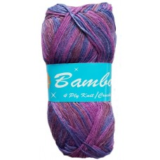 Bamboo, 4 Ply - Shades of Purple, Plum and Pink