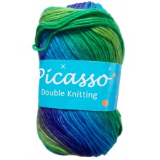 Picasso, Double Knit - Blue and Green