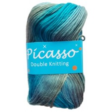 Picasso, Double Knit - Shades of Blue, Grey and Green